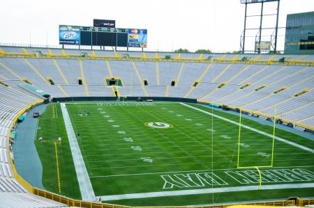 A view inside of Lambeau field in Green Bay Wisconsin Редакционное