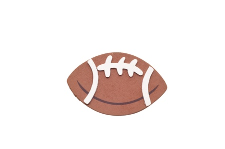 3d American football isolated on white background. photo