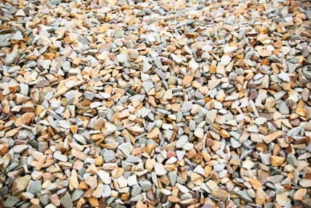 upclose: Different shaped gravel rocks up-close.