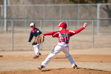baseball pitcher: youth little league pitcher