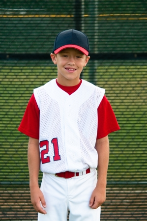 little league: Youth baseball player portrait photo