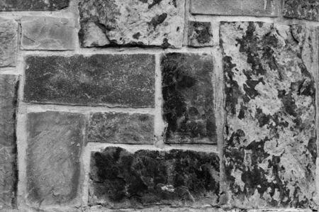 flagstone: Black and white Background texture of flagstone stacked close up.