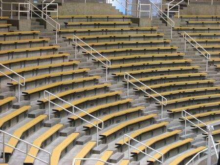 reserved seat: Stadium Seating Stock Photo