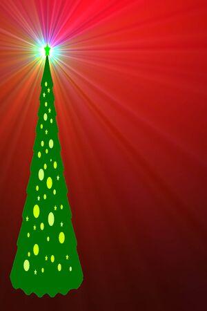 �rbol de Navidad Luminoso Foto de archivo - 4008453