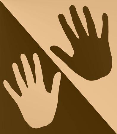 Hand prints Stock Photo