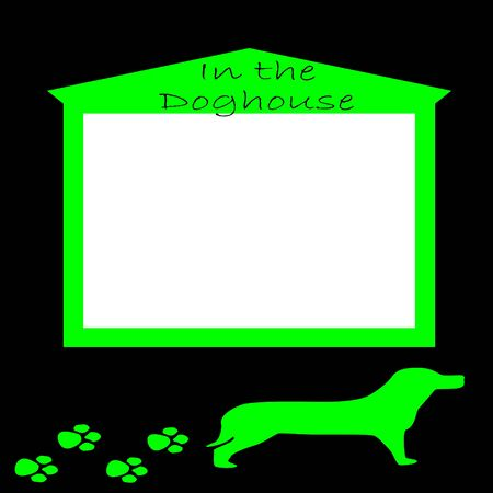 In the Doghouse scrapbook sheet
