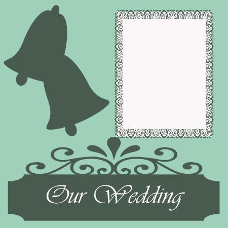 Scrapbook sheet featuring our wedding