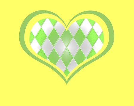 Glass Tile Heart