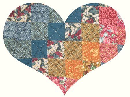 Quilted Corazón Foto de archivo