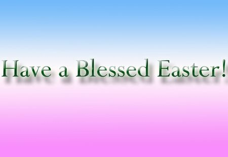 Have a Blessed Easter Greeting Card Stock Photo
