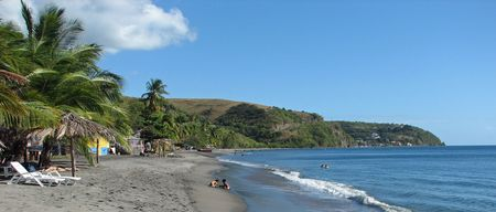 Beach on the Island of Dominica