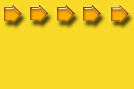 Arrow Header on yellow background