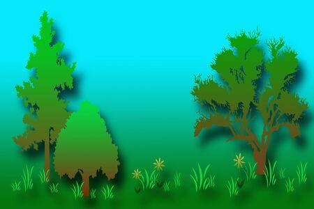 Forest illustratie Stockfoto