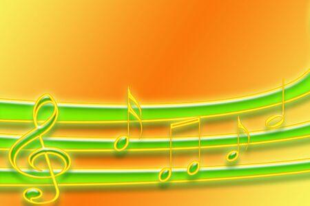 Neon Musical Staff