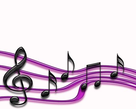 music background: Isolated Musical Staff in purple