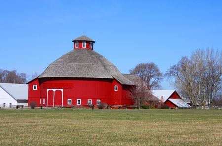 Amish Round Barn Stock Photo - 4576951