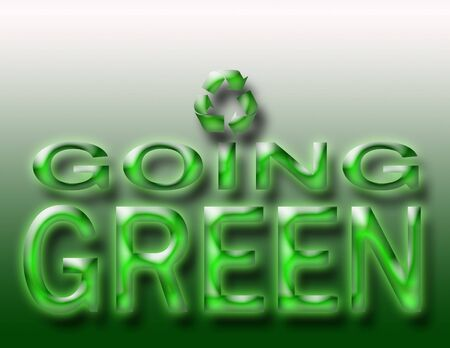 going green: Going Green Recycling Sign