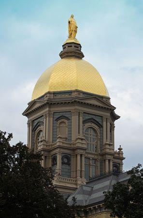 The Famous Notre Dame University Golden Dome