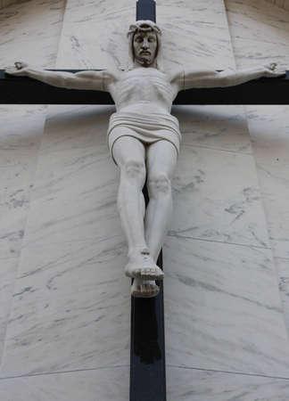 Jesus Christ, hanging on the Cross.