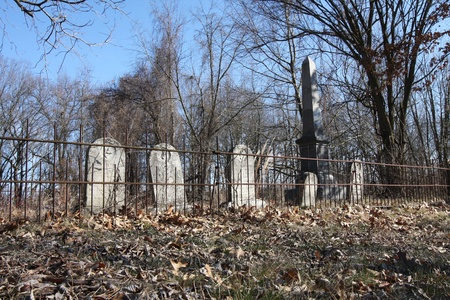 An old cemetary fenced in Plymouth Indiana photo