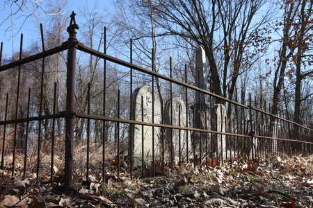 An old cemetary fenced in Plymouth Indiana