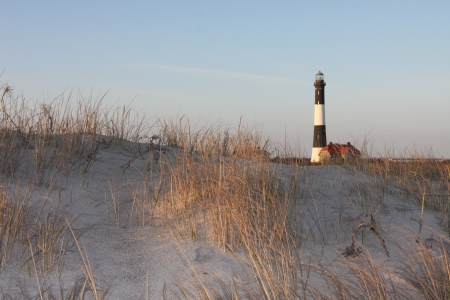 Fire Island Light House from the Beach. Stock Photo - 14808554