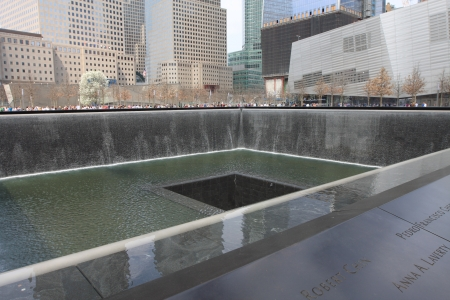 The 911 Memorial in New York City.