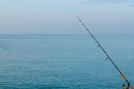 clear day: The blue sea on a clear day and fishing hook