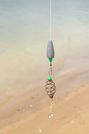relent: Pesca al lago in una giornata limpida Archivio Fotografico