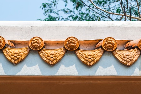 Closeup to Border of Old Roof in Chinese Style Stock Photo