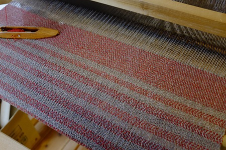 Hand-woven work. Our job is weaving. Stock Photo