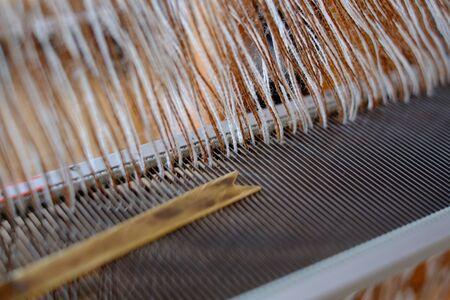 Weaving work. Hand-woven. Stock Photo