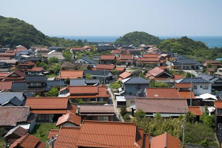 ryokan: Red tile settlement in the prefecture north of Hiroshima prefecture.