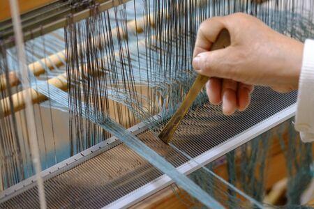 Weaving work.