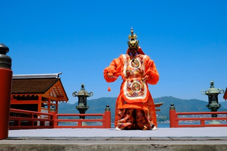 Buddhism that fuses traditional gagaku and dancing transmitted to Miyajima in Hiroshima. Editorial