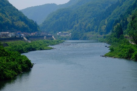 River flows from Hiroshima, Shimane Prefecture 写真素材 - 100157022
