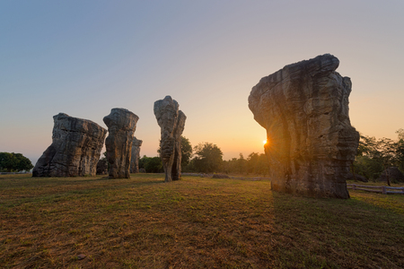 Mor Hin Khao in Chaiyaphum, Thailand Stock Photo