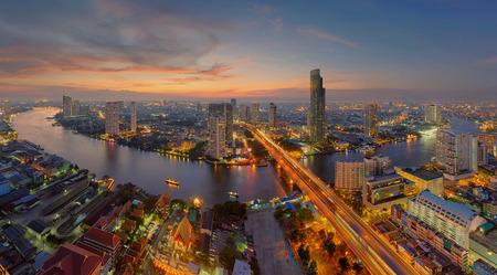 U-Curve of Chao Phraya River, Bangkok City, Thailand