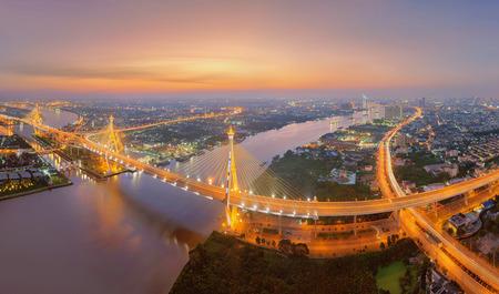 industrial building: Bhumibol Bridge, Bangkok, Thailand