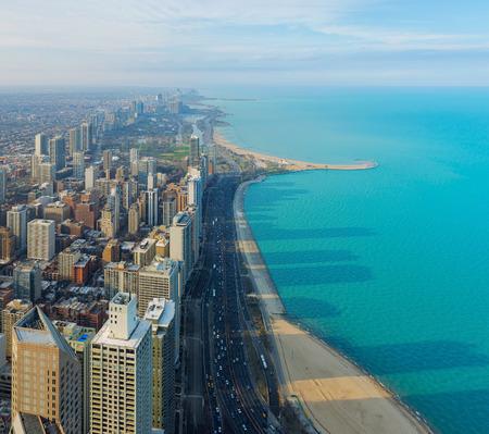 Chicago City and Michigan Lake, Chicago, illinois, USA
