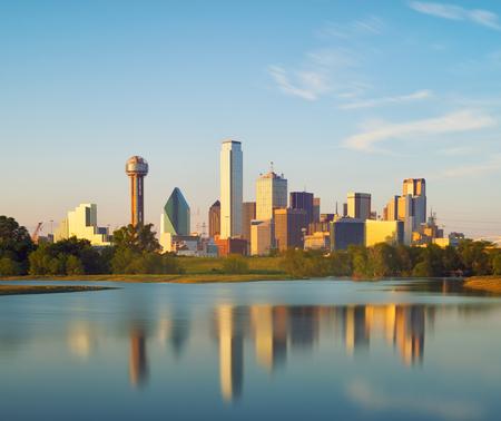 Reflection of Dallas City, Texas, USA 写真素材