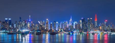 Skyline of New York City,Skyscrapers, downtown, USA