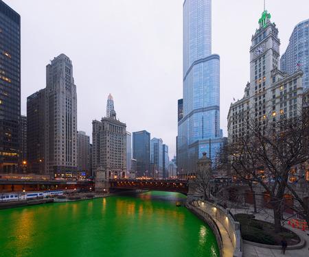 St. Patrick's Day Chicago city, Green River, Illinois, USA 写真素材