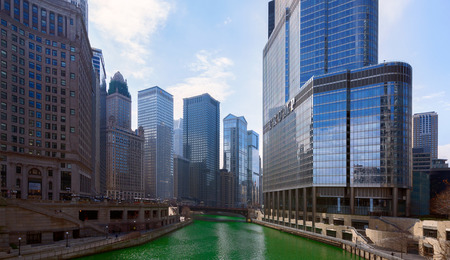 Saint Patricks Day in Chicago City, Green River, Illinois, USA