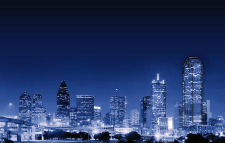 Downtown Dallas at night, Texas, USA