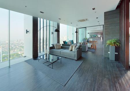 luxury living room: luxury modern living room interior and decoration, interior design