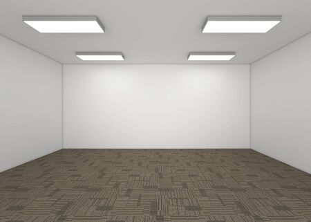 condo: Modern Empty Room, 3d render interior design, mock up illustration Stock Photo