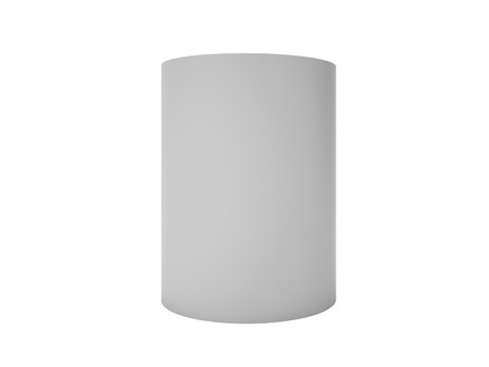 Grey Cylinder Isolated on white, 3d render illustration