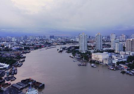 Chao Phraya River, Bangkok City, Thailand Stock Photo