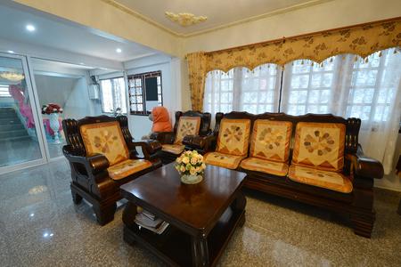 Elegant Oriental Classic Vintage Chinese Living Room, Interior Design Stock  Photo   94013987